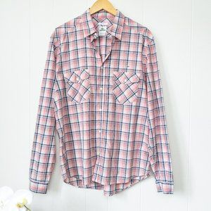 Lacoste Long Sleeve Button Down Plaid Shirt
